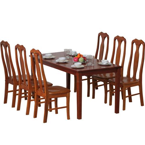 Bộ bàn ghế ăn gỗ TB03, TGA03