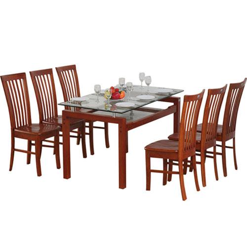 Bộ bàn ghế ăn gỗ TB09, TGA02