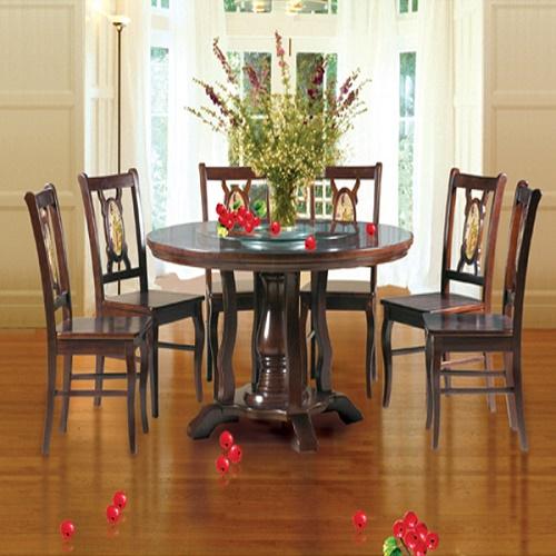 Bộ bàn ghế ăn gỗ TB21V, TGA21
