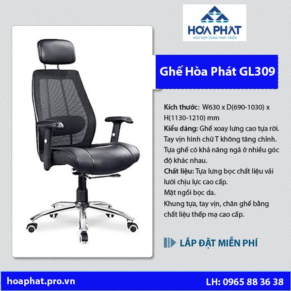 chi tiết ghế lưới hòa phát gl309