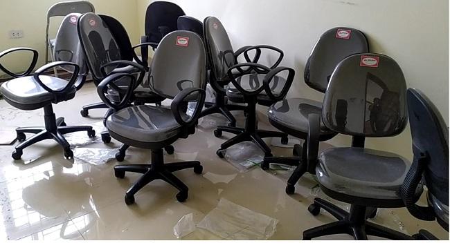 ghế sg550h thực tế màu xám lông chuột