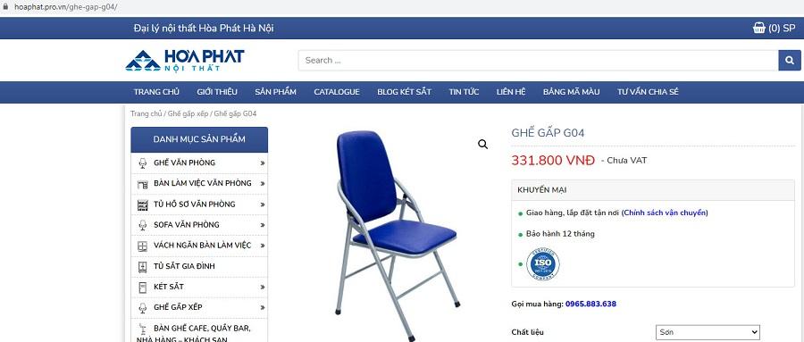 giá g04 trên web là chưa vat chân sơn