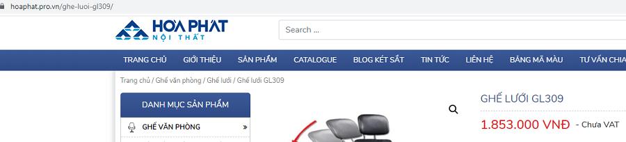 giá trên web gl309 là chưa vat