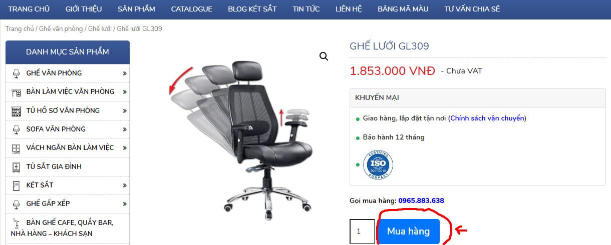 nút mua hàng gl309 tại hoaphat.pro.vn