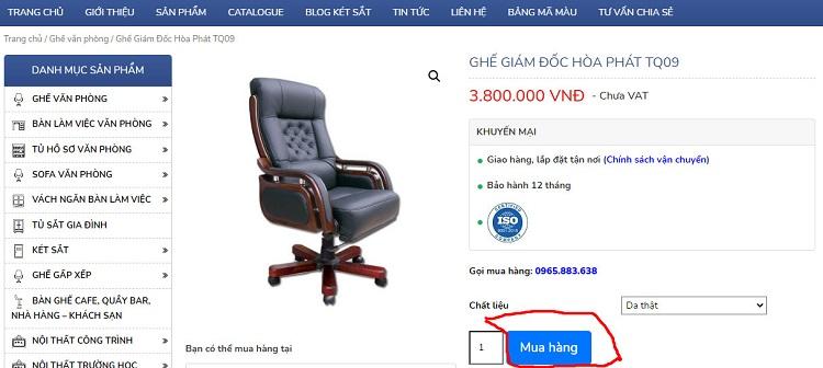 nút mua hàng tq09 hòa phát tại hoaphat.pro.vn