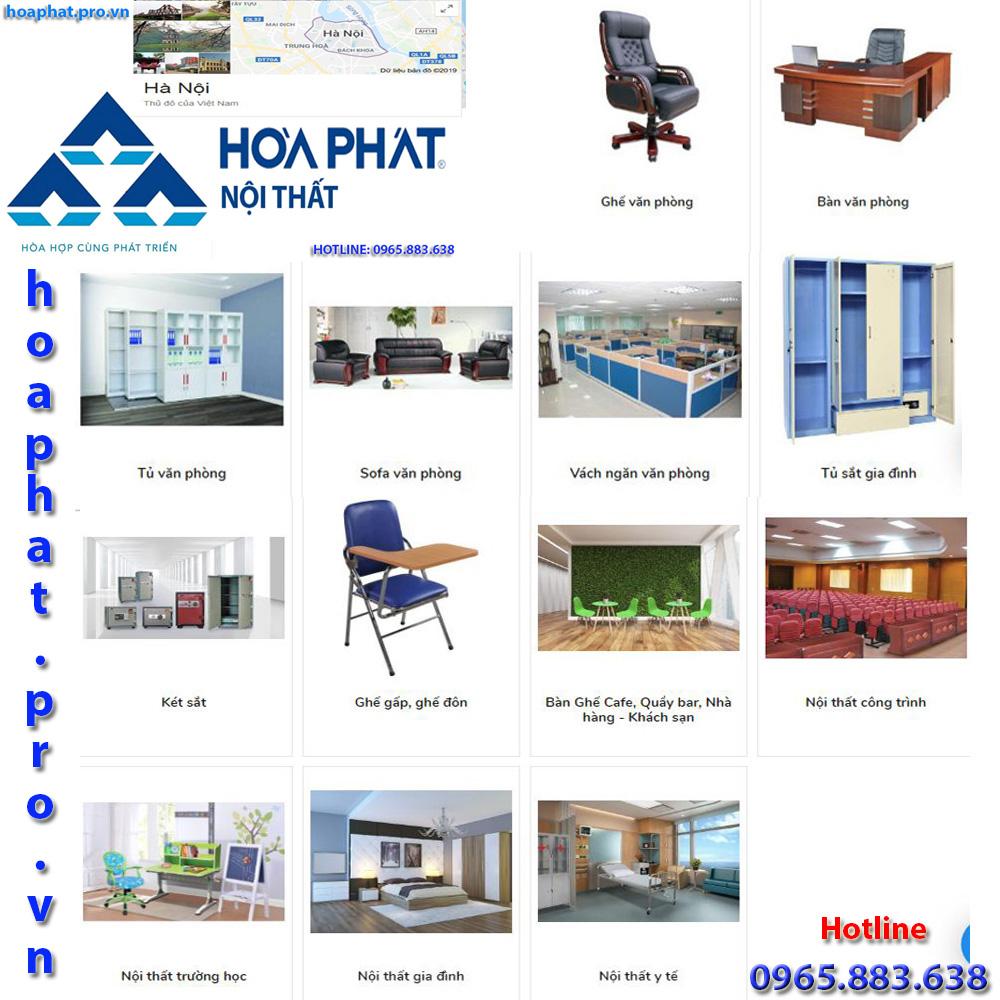 Sản phẩm chính của nội thất Hòa Phát tại Hà Nội