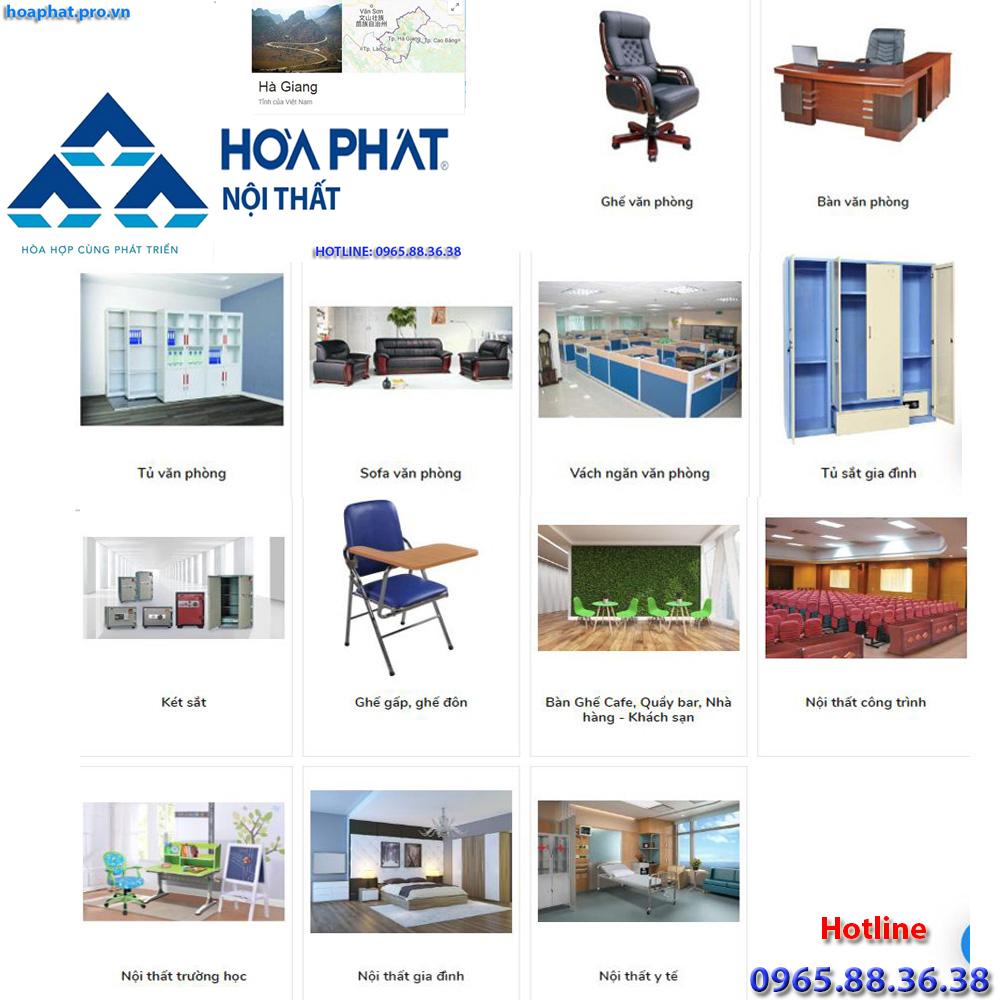 sản phẩm chính của nội thất hòa phát tại hà giang đa dạng từ văn phòng gia đình trường học công trình đến y tế