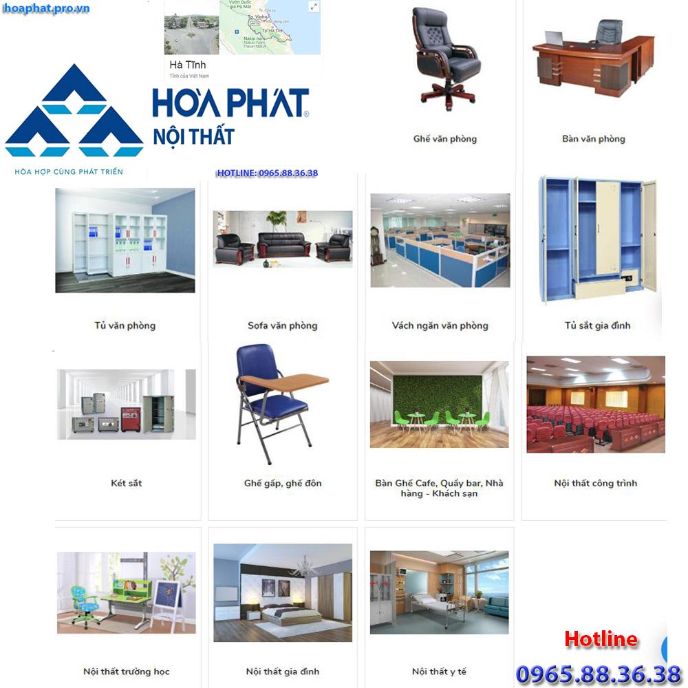 sản phẩm chính của nội thất hòa phát tại hà giang đa dạng từ văn phòng gia đình trường học công trình đến y tế tại Hà Tĩnh