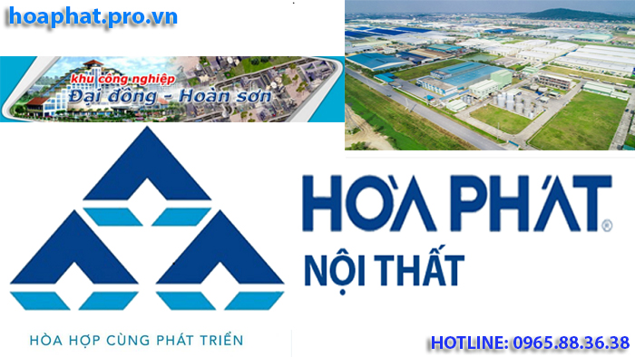 logo thương hiệu nội thất Hòa Phát tại khu công nghiệp đại đồng hoàn sơn