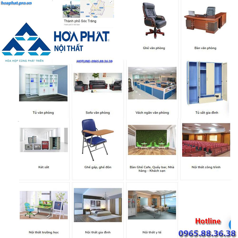 sản phẩm chính của nội thất hòa phát tại hà giang đa dạng từ văn phòng gia đình trường học công trình đến y tế tại Sóc Trăng