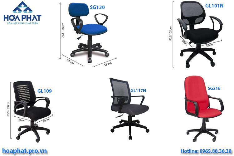 10 ghế văn phòng hòa phát giá rẻ dưới 1 triệu đồng