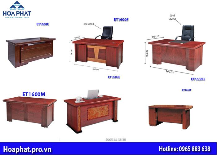 6 mẫu bàn giám đốc hòa phát dài 1m6