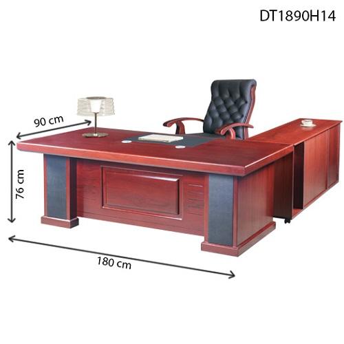 bàn giám đốc hòa phát dt1890h14 dài 1m8