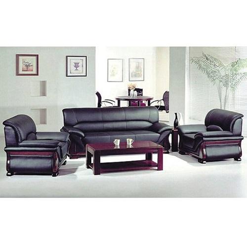 bộ ghế sofa văn phòng da thật hòa phát sf02