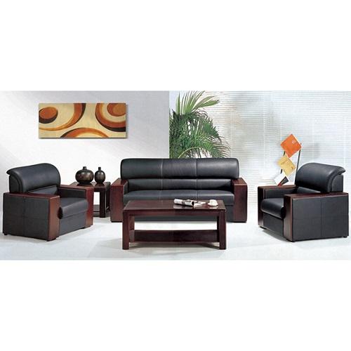 bộ ghế sofa văn phòng da thật hòa phát SF11