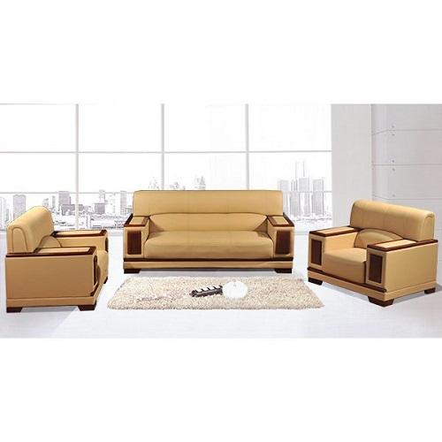 bộ ghế sofa văn phòng da thật hòa phát sf21