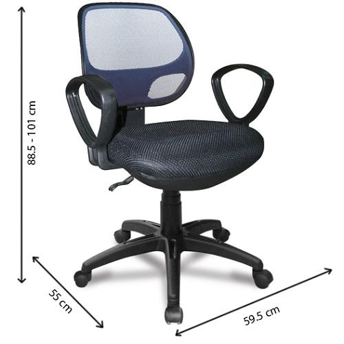 ghế văn phòng hòa phát gl101b chân nhựa