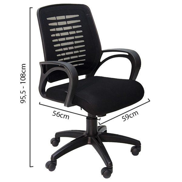 ghế văn phòng hòa phát gl109 màu đen