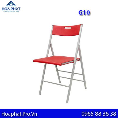 ghế xếp Hòa Phát G10 màu đỏ