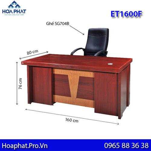 mẫu bàn giám đốc hòa phát dài 1600 cm et1600f