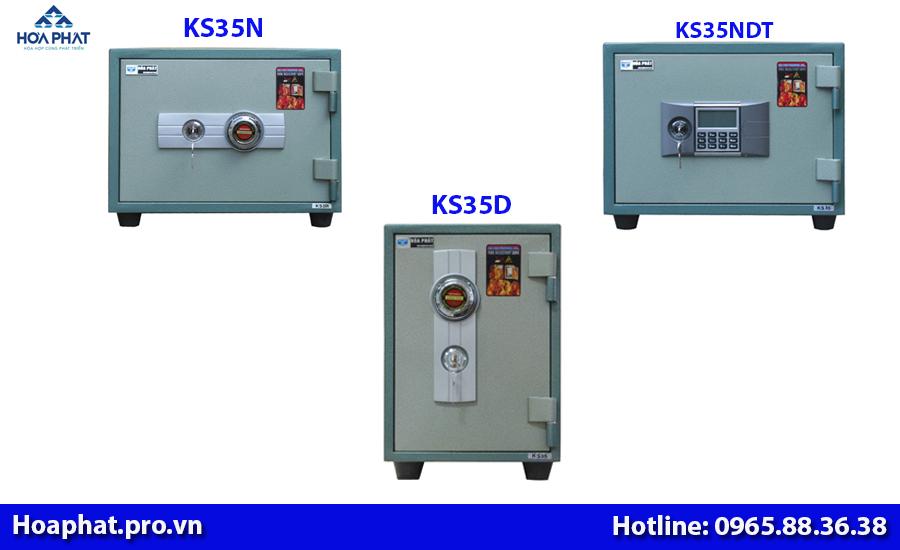 3 két sắt nhỏ hòa phát chống cháy ks35n ks35ndt ks35d