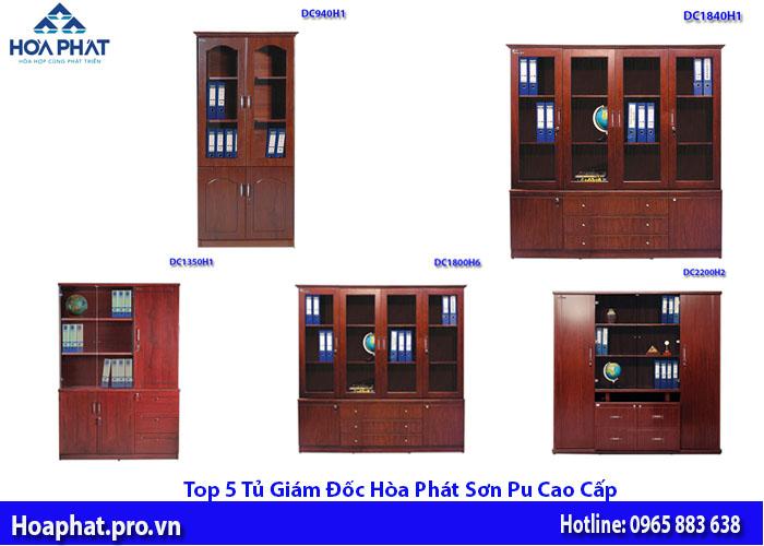 5 tủ tài liệu giám đốc sơn pu cao cấp