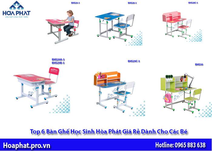 6 bộ bàn ghế học sinh hòa phát giá rẻ dành cho bé