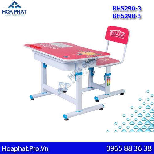 bàn học hòa phát cho bé bhs29a-3 và bhs29b-3