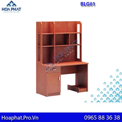 bàn liền giá gỗ tự nhiên hòa phát blg01