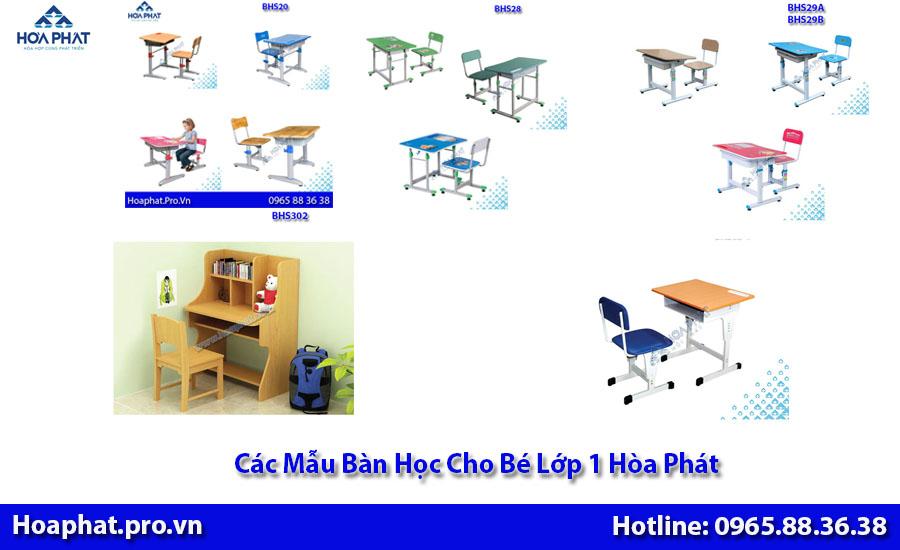 các mẫu bàn học cho bé lớp 1 của hòa Phát