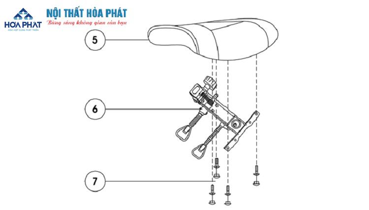 hướng dẫn lấp đặt ghế lưới gl309-2