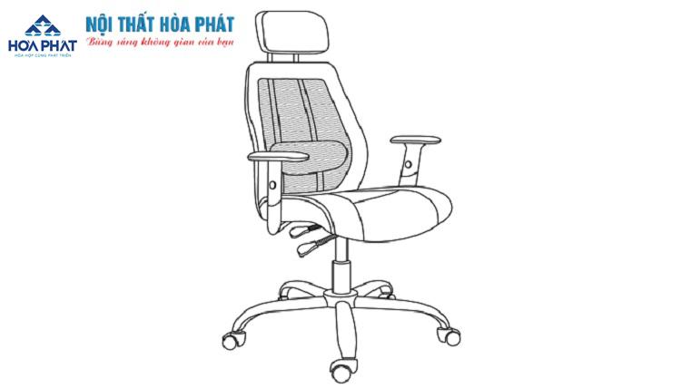 hướng dẫn lấp đặt ghế lưới gl309-4