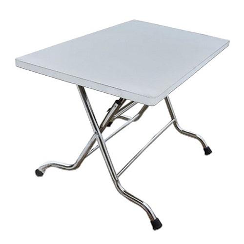 bàn ăn gấp inox bcn712b