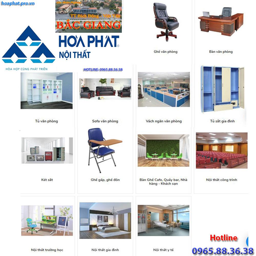 sản phẩm chính của nội thất hòa phát đa dạng từ văn phòng gia đình công trình trường học đến y tế tại bích động