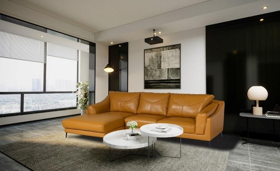 vietbuild 2020 bộ sofa 132 hòa phát