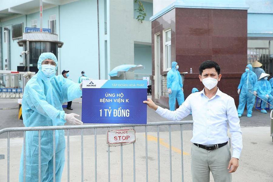 tập đoàn hòa phát ủng hộ bệnh viện k 1 tỷ đồng