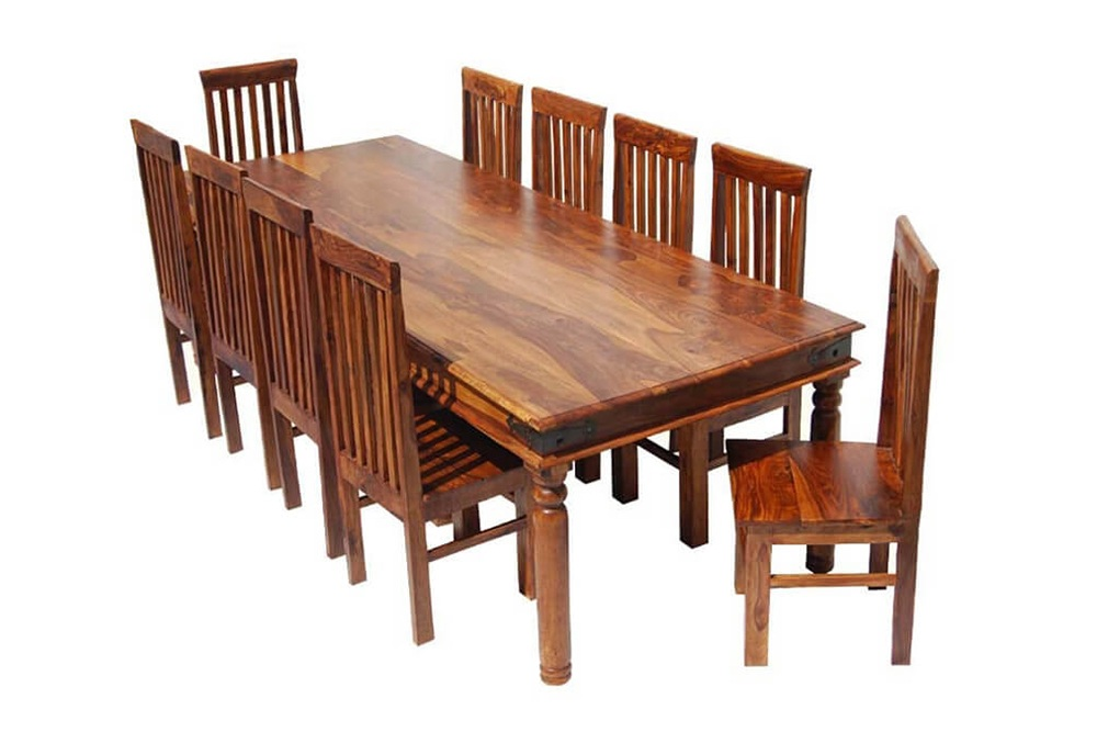 bàn ăn 10 người hình chữ nhật