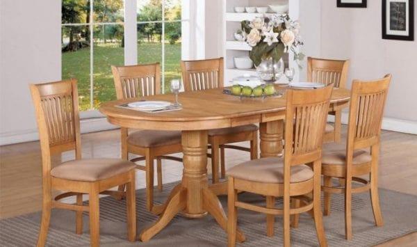 bàn ăn 6 người hình oval hoaphat.pro.vn