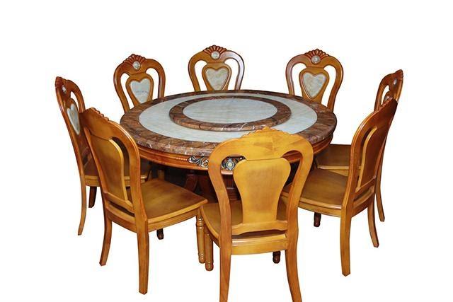bàn ăn tròn 8 người