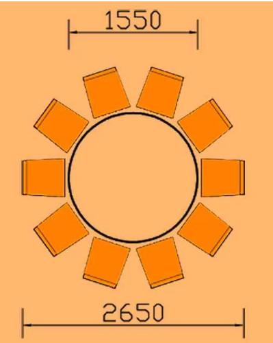 kích thước bàn ăn 10 người hình tròn hoaphat.pro.vn