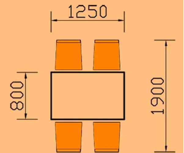 kích thước bàn ăn 4 người hình chữ nhật hoaphat.pro.vn