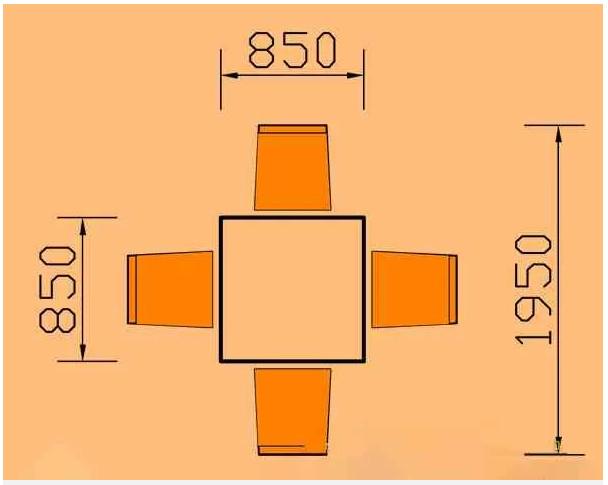 kích thước bàn ăn 4 người hình vuông hoaphat.pro.vn