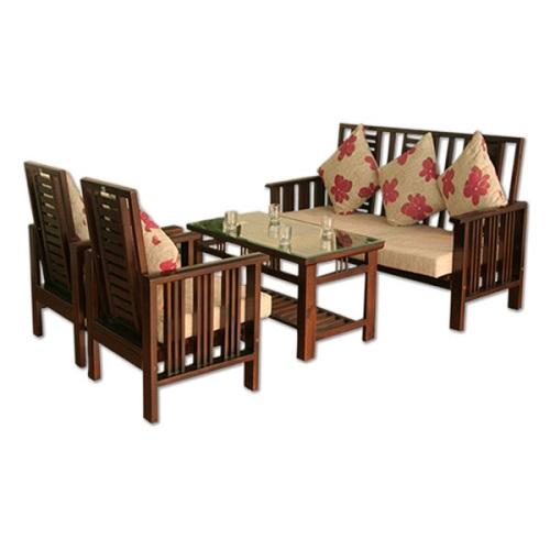 Bộ Sofa gỗ tự nhiên hòa phát SF71