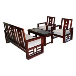 Bộ Sofa gỗ tự nhiên hòa phát SF72