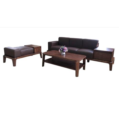 Bộ Sofa gỗ tự nhiên hòa phát SF509